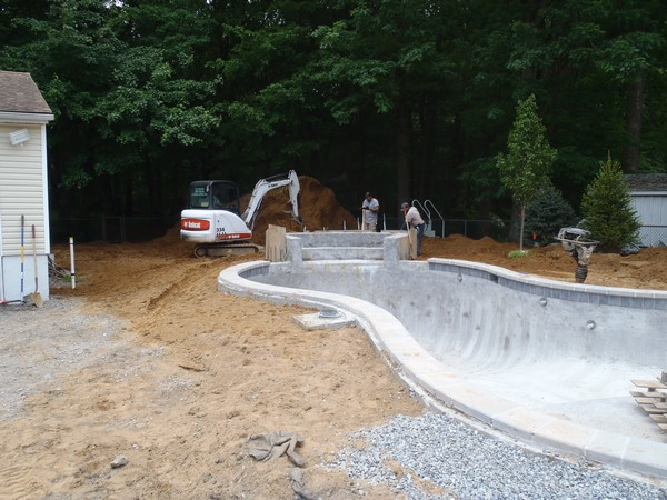 Our landscaping work hillsdale nj bergen county for Waterfall installation